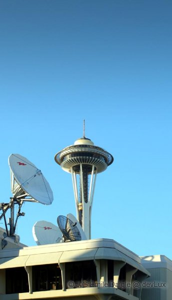 Space Needle and Satellites